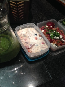 Some of my lunch prep!